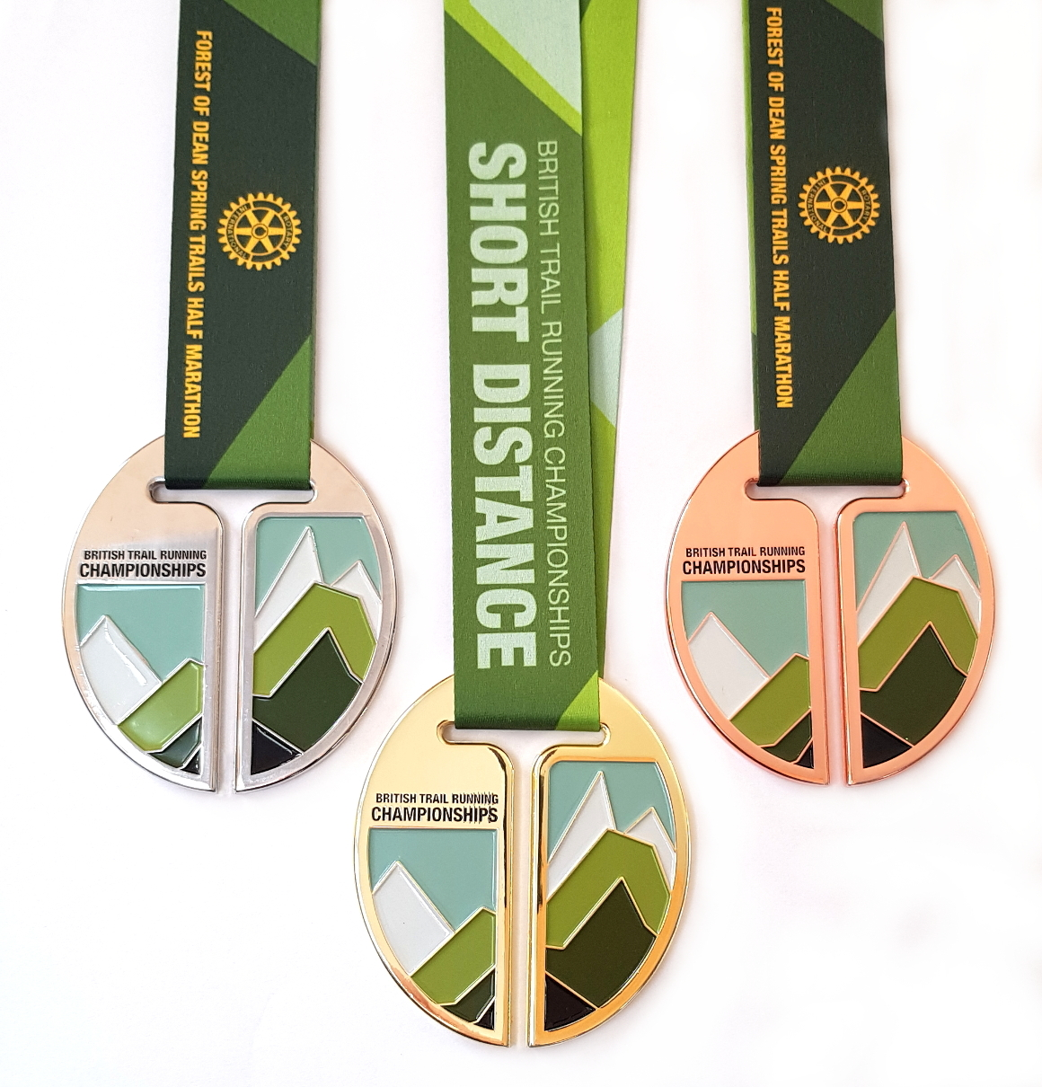 Trail Running Association Short Distance Championship medals