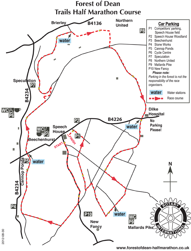 Spring half marathon course map